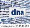 Dna message background. Genetic engineering poster conceptual design - stock photo
