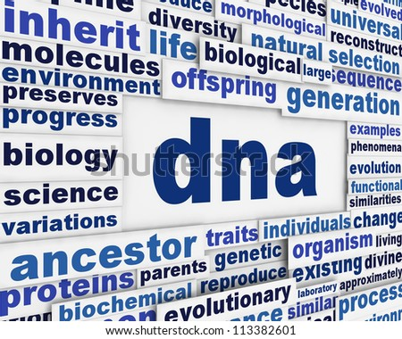 Dna message background. Genetic engineering poster conceptual design