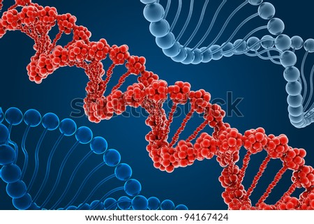 DNA molecule - stock photo