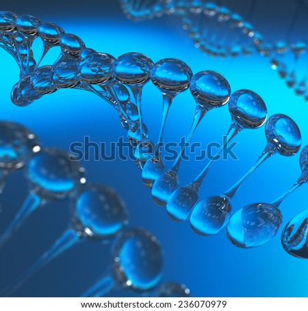 DNA molecules model 3d render - stock photo