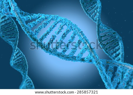 DNA molecules on the beatiful backdrop - stock photo