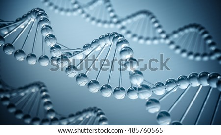 DNA science Background - 3D illustration