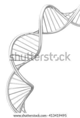 Dna spiral. 3d illustration isolated on white background  - stock photo