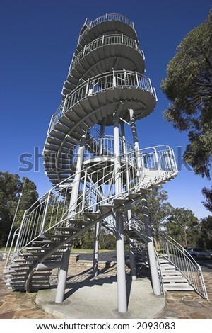 DNA Tower, Kings Park, Perth - stock photo