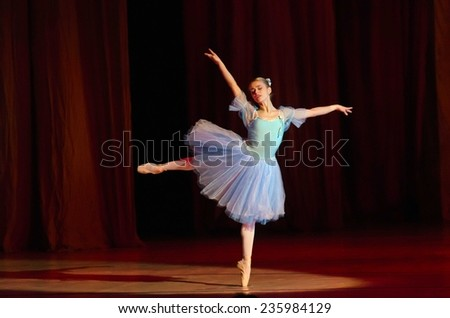 DNIPROPETROVSK, UKRAINE - DECEMBER 6: Nutcracker ballet performed by Dnipropetrovsk Opera and Ballet Theatre ballet on December 6, 2014 in Dnipropetrovsk, Ukraine. - stock photo