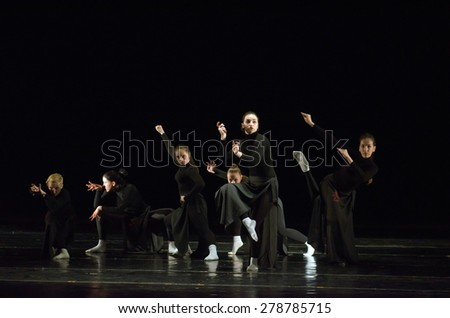 DNIPROPETROVSK, UKRAINE - MAY 16: Unidentified dancers perform THE SIXTH SENSE at State Opera and Ballet Theatre on May 16, 2015 in Dnipropetrovsk, Ukraine - stock photo