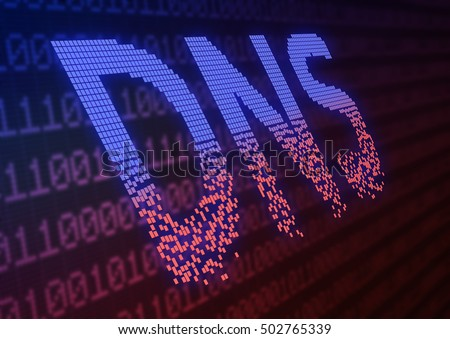 DNS ddos attack - cyber warfare concept 3d illustration