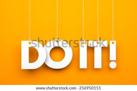 Do it! - stock photo