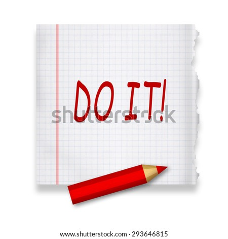 Do it - stock photo