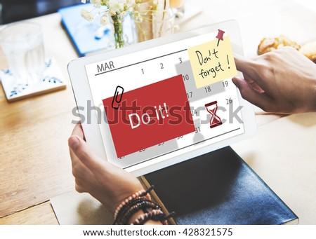 Do It Note Calendar Planner Concept - stock photo