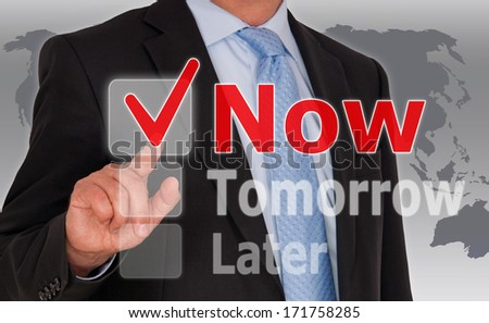 Do it Now - Business Concept - stock photo