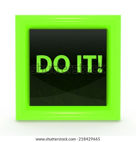 Do it square icon on white background