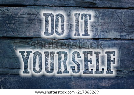 Do It Yourself Concept text on background - stock photo