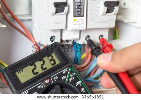 Do-it-yourself Electrician. - stock photo