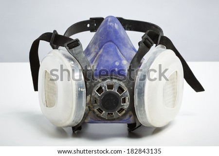 Do it yourself respirator isolated on white background. DIY protection and safety concept - stock photo
