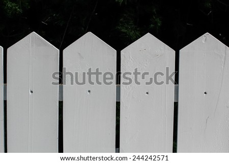Do Not Be Afraid of Fences. Though It's Dark Ahead - stock photo