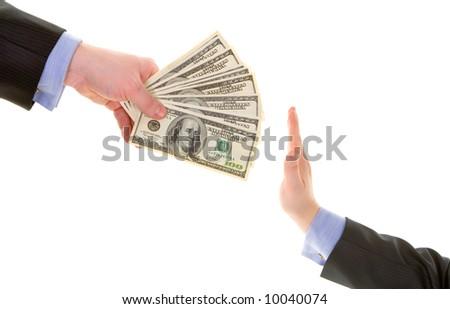 do not  bribe - stock photo