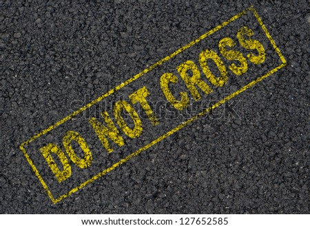 Do not cross background - stock photo