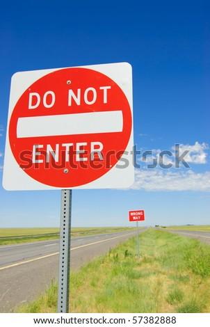 Do Not Enter - stock photo