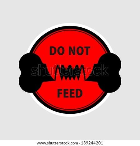Do not feed - stock photo