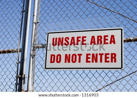 Do not go inside this area! - stock photo