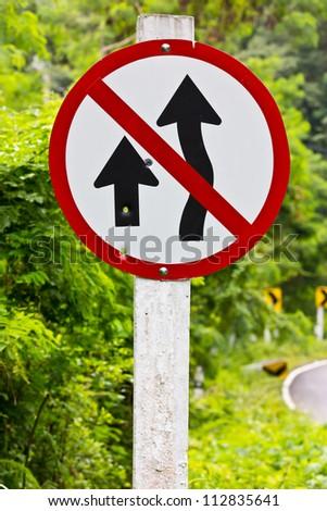 Do not overtake. - stock photo