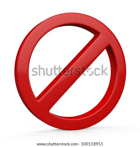 Do Not red warning sign isolated on white background - stock photo