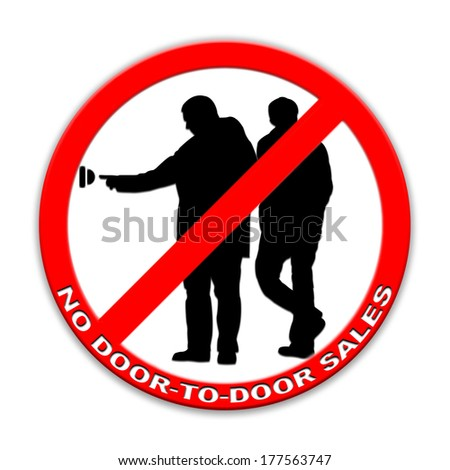 Do not ring doorbell sign door-to-door sales two persons isolated on white  sc 1 st  Shutterstock & Do Not Ring Doorbell Sign Doortodoor Stock Illustration 177563747 ...