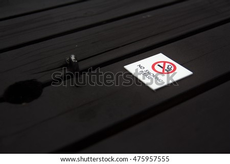 Do not smoke here in the tobacco Symbol of smoking ban
