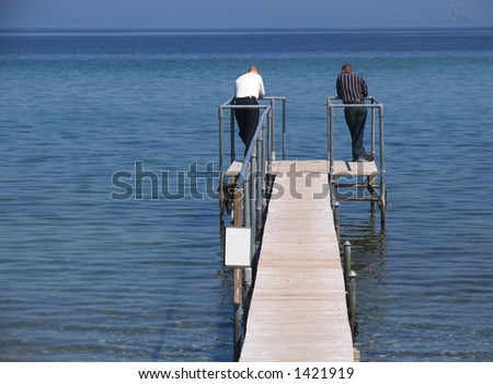 Do they know each other? - stock photo