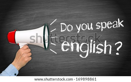 Do you speak english ? - stock photo