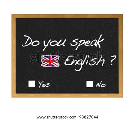 Do you speak english. - stock photo