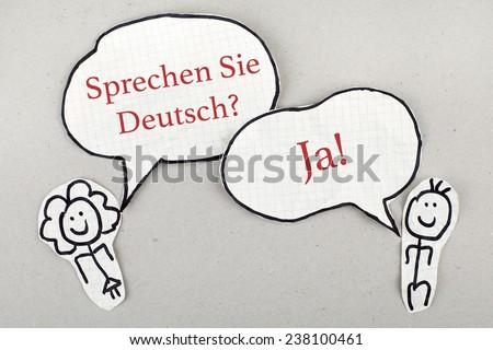 Do You Speak German in German Language Concept - stock photo