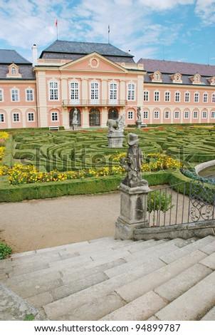 Dobris castle in Czech Republic - stock photo