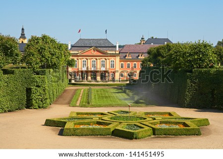 Dobris chateau. Czech republic. - stock photo