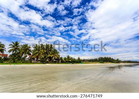 Doc Let beach At Morning, Nha Trang central Vietnam - stock photo