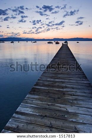 Dock at Lake Tahoe - stock photo