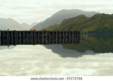 Dock in Alaska - stock photo