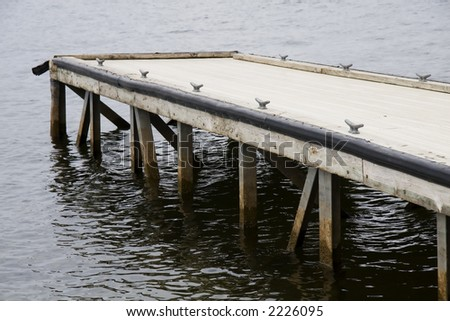 Dock over the water - stock photo