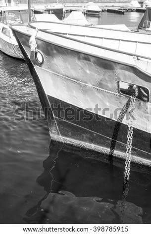 Docking lake como, Italy - stock photo