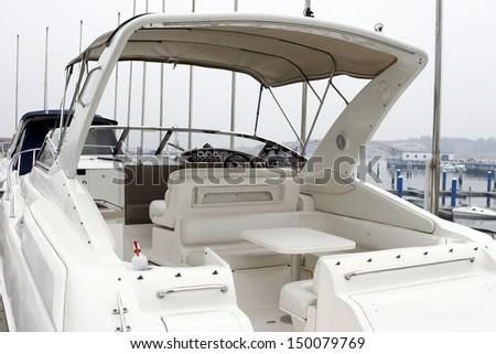 Docking yachts - stock photo