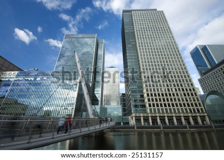 Docklands, London - stock photo