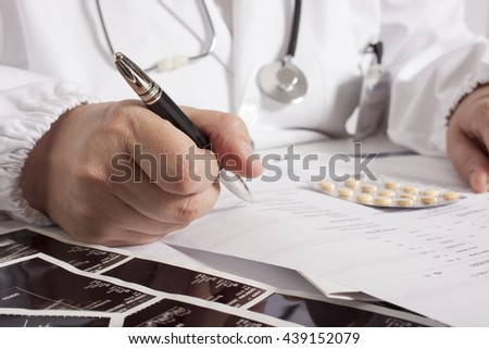 doctor and medical exam