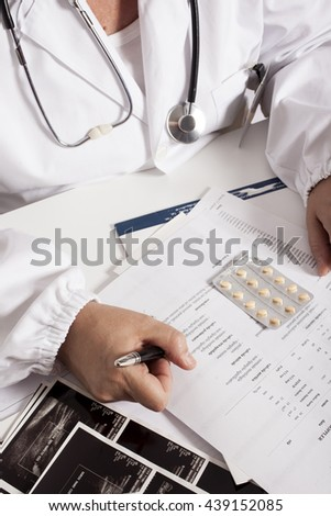 doctor and medical exam - stock photo