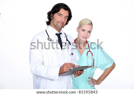 Doctor and nurse - stock photo