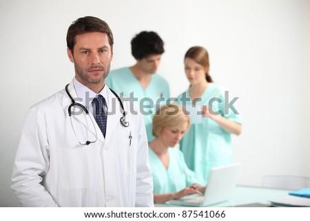 Doctor and nurses - stock photo