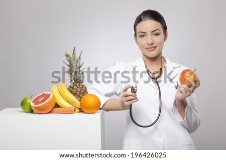 Doctor and nutrition - stock photo