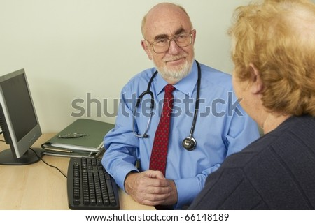 Doctor and patient - stock photo