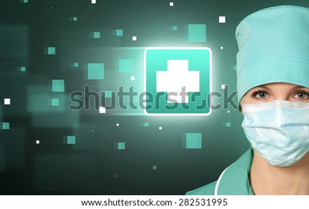 Doctor, Asian Ethnicity, Nurse. - stock photo