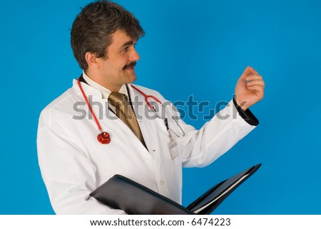 doctor at lecture - stock photo
